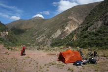 Our first Camping Place in Peru