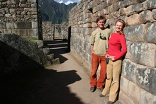 Dasa and Kybi in Machu Picchu