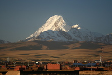 Mt. Huayna Potosi from El Alto