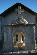 Church in Ghost Village Guallatire
