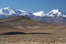 Volcanoes in National Park Lauca
