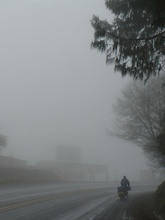 foggy and cold day - from Perote to Xalapa