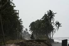 damaged coastal road - Mexican Bay