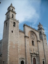 The cathedral in Merida