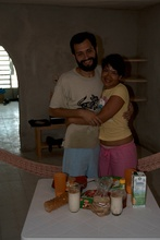 Jose Luis and Julieta in their house in Chetumal