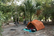 our camping spot in San Narciso