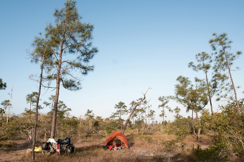 our camping spot in bush
