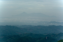 View to Volcan Izalco, Cerro Verde and Santa Ana, Salvador