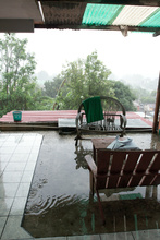 Our therasse during the Tropical storm Agatha