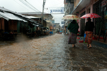 San Pedro la Laguna during the Tropical storm Agatha