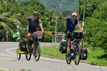 Slovak couple on bicycle in Honduras