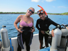 Dasa with her diving instructor Andrea