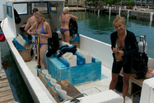 Getting back from diving, Utila