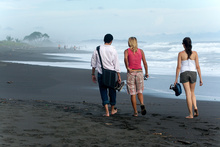 MaFe, Jorge and Dasa on Playa Hermosa, Costa Rica