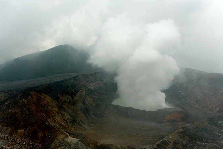 View to the crater of Volcan Poas, Costa Rica