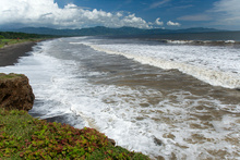 One of the Pacific beaches  near Jaco, Costa Rica