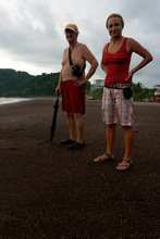 Dennis and Dasa on the Jaco beach, Costa Rica