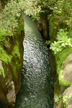 Deep canyon of Rio Colorado, Costa Rica