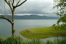 Rain coming to Lago Arenal, Costa Rica