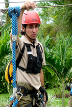 Guide for canopy tour, Costa Rica