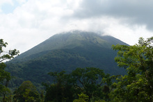 Volcan Arenal in clouds, Costa Rica