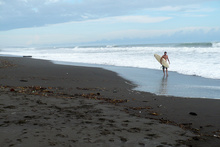 Surfer on the Playa Hermosa, Costa Rica
