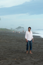 Jorge on the pacific beach, Playa Hermosa, Costa Rica