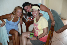 Diana and Lina from Colombia in Jaco, Costa Rica