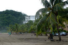On the beach in Jaco, Costa Rica